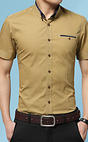 Heren Geborduurd Overhemd Grafisch Licht Blauw XXXL