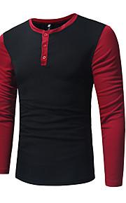 Ανδρικά T-shirt Συνδυασμός Χρωμάτων Μαύρο L