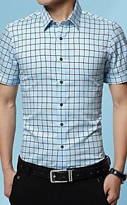 Hombre Bordado Camisa Gráfico Azul Marino XXXL