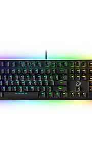 dareu ek925 usb 유선 기계식 키보드 기계식 발광색 여러 가지 빛깔의 백라이트 108 개 키