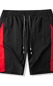 Hombre Deportivo / Básico Pantalones de Deporte / Shorts Pantalones - Diseño Geométrico Negro