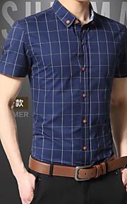 Муж. Рубашка Гусиная лапка Красный XXXL