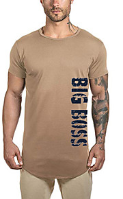 Camiseta de algodón para hombre - letra cuello redondo.