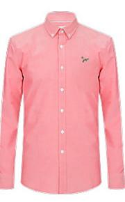 Муж. Рубашка Однотонный Оранжевый XXXL