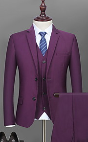 Hombre trajes Cuello Camisero Poliéster Azul Piscina / Negro / Wine XL / XXL / XXXL