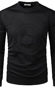 Hombre Estampado Camiseta Un Color / Gráfico / Animal Blanco XL