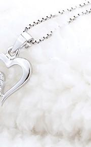 Dámské Průsvitné Náhrdelník Kytky umělecké Půvab Stříbrná 30 cm Náhrdelníky Šperky 1ks Pro Denní