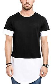 T-skjorte Herre - Fargeblokk Svart L