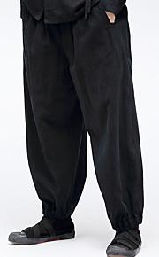 Муж. Классический Гарем Брюки - Однотонный Черный