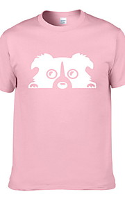 Ανδρικά T-shirt Ζώο Κίτρινο L