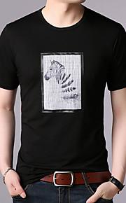 Ανδρικά T-shirt Ζώο Λευκό XL