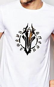 Hombre Camiseta Gráfico Blanco XL