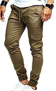 Hombre Básico Pantalones Harén Pantalones - Un Color Negro