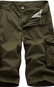 Hombre Básico Pantalones de Deporte Pantalones - Un Color Wine