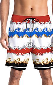 Herre Sporty / Basale Chinos / Shorts Bukser - Trykt mønster / Mønstret / 3D Print Regnbue