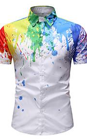 Skjorte Herre - Batikkfarget Grunnleggende Hvit XXL