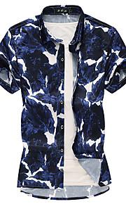 Skjorte Herre - Geometrisk Grunnleggende Blå XXXXL