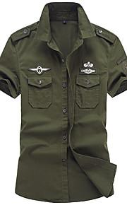 Skjorte Herre - Grafisk Militærgrønn XXXXL