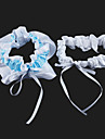 Lovely 2-Piece Satin With Ribbons Wedding Garters