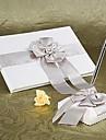 carte de oaspeți stilou set de grădină satin cu ceremonia de nunta faux perla