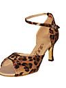 sală de bal de moda leopard model tesatura superioare de dans pantofi pantofi latină pentru femei