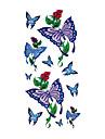 6 st fjäril blandade tillfällig tatuering