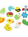 gulliga djur formade tecknad magneter (12-pack)