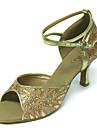 en satin de danse supérieure chaussures femmes chaussures de bal latino plusieurs couleurs