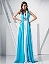 Teacă / coloană v-gât matura / perie tren chiffon rochie de bal cu beading de ts couture®