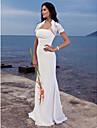 Trompetă / Sirenă Fără Bretele Mătura / Trenă Șifon Made-To-Measure rochii de mireasa cu Pliuri de LAN TING BRIDE® / Da