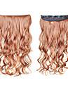 20 pouces Long Extension des cheveux Ondulé Classique Quotidien Haute qualité Extensions Naturelles