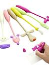 stilou de design animal de desene animate pasă flexibil (culoare aleatorii)