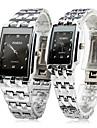 Bărbați Pentru femei Pentru cupluri Ceas Elegant  Ceas de Mână Ceas La Modă Quartz / Oțel inoxidabil Bandă Casual Argint