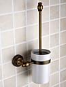Suport Perie Toaletă Detașabil Antichizat Alamă 1 piesă - Hotel baie