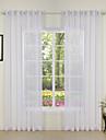 Stångficka Hyls-topp Hällor topp Dubbel veckad Två paneler Fönster Behandling Moderna, Tryck Enfärgad Sovrum Polyester Material Skira
