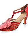 espumosos brillo / zapatos de cuero superior de baile de salón latino / modernos zapatos de las mujeres más colores