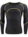 SANTIC Homme Manches Longues Maillot de Cyclisme Rayure Cyclisme Couches de base Maillot Collants, Garder au chaud Respirable, Automne Hiver, Spandex / Haute elasticite