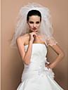 Voal de Nuntă Cinci niveluri Voaluri umăr Margine panglică 19.69 în (50cm) Tul IvoriuA-line, Rochie de Bal, Prințesă, Foaie/ Coloană,