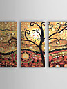 Hang-pictate pictură în ulei Pictat manual - Abstract pânză Trei Panouri