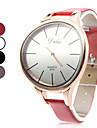 Unisex simplu elegant stil pu analog cuarț ceas de mână (culori asortate)