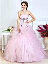 A-line rochie de mireasa printesa fara bretele lungime de podea organza balul cu rochie de balet cu ts couture®