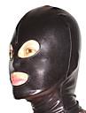Maske Deri elbise Ninja Zentai Cosplay Kostümleri Siyah Solid Maske Spandex Erkek Kadın\'s Cadılar Bayramı