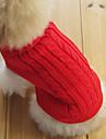 Pisici Câine Pulovere Îmbrăcăminte Câini Clasic Keep Warm Solid Rosu Verde Roz Albastru Deschis Bleumarin