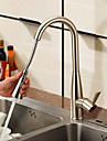 nichel periat finisaj trage în jos robinet de bucătărie