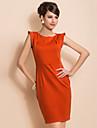 ts chic skulder design enkelhed ærmeløs kappe kjole