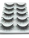 5 Par svartfiber ögonfrans Lösögonfransar (5-023)