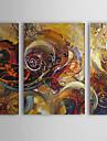 HANDMÅLAD Abstrakt Horisontell Duk Hang målad oljemålning Hem-dekoration Tre paneler
