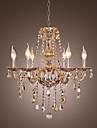 Ljuskronor ,  Traditionell/Klassisk Elektropläterad Särdrag for Kristall Vardagsrum Matsalsrum 4 lampor