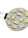 1.5W 150-200lm G4 Spoturi LED 12 LED-uri de margele SMD 5730 Alb Natural 12V / #