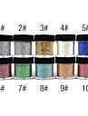 1st Färgglada tindrade Powder Nail Dekorationer (Blandade färg)